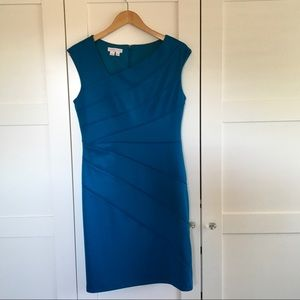Peacock Blue Cocktail Dress NWOT Size 10